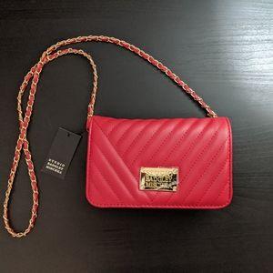 Badgley Mischka Studio Red Quilted Handbag